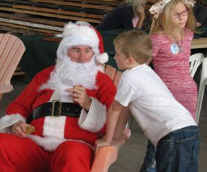 Santa at the USGBC Christmas Party