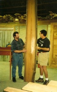 From log to kiln dried lumber - it takes a little longer for heart cypress than for heart pine